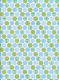 7271 Printed Backdrop Blue Green Dots Background - Backdrop Outlet