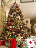 Large Christmas Tree Photo Backdrop - 729 - Backdrop Outlet