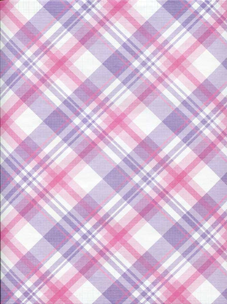 Purple Plaid Backdrop - 7327 - Backdrop Outlet