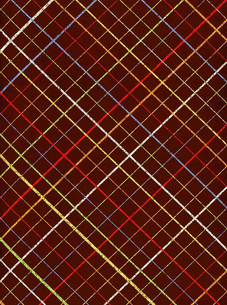 Rust Brown Check Stripe Backdrop - 7344 - Backdrop Outlet