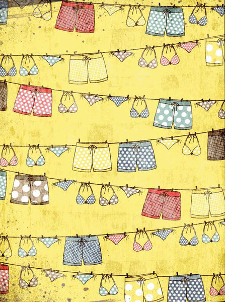 Beach Laundry Backdrop - 7363 - Backdrop Outlet