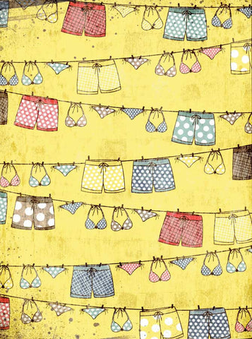 7363 Beach Laundry Backdrop - Backdrop Outlet