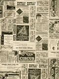 Vintage Circus Newsprint Backdrop - 7369 - Backdrop Outlet