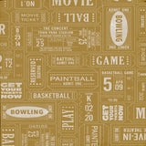 Vintage Game Tickets Backdrop - 7373 - Backdrop Outlet
