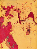 7384 Abstract Mustard Crackle Wall - Backdrop Outlet