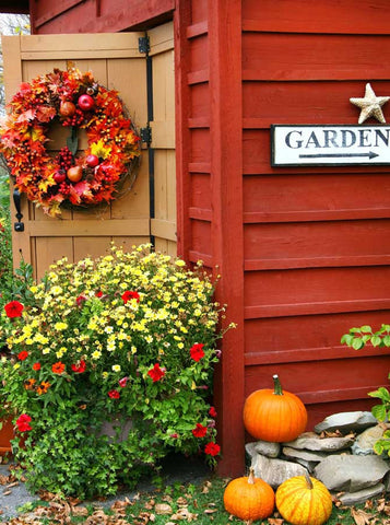 Bright Autumn Garden Backdrop - 7604 - Backdrop Outlet