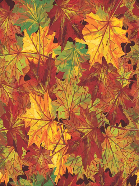 Colorful Autumn Leaves Backrop - 7607 - Backdrop Outlet