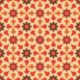 7614 Autumn Leaves and Flowers Backdrop - Backdrop Outlet