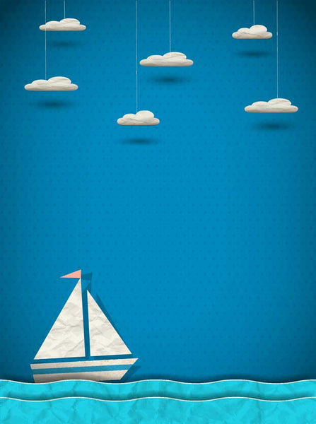 Sailboat Fun Backdrop - 7681 - Backdrop Outlet