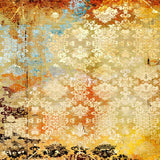 Damask Colorful Wall Backdrop - 7755 - Backdrop Outlet