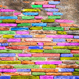 Pastel Brick Backdrop - 7786 - Backdrop Outlet