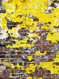 Distressed Yellow Brick Photography Backdrop - 7843 - Backdrop Outlet