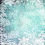 Snowflake Scattered Christmas - 7860 - Backdrop Outlet
