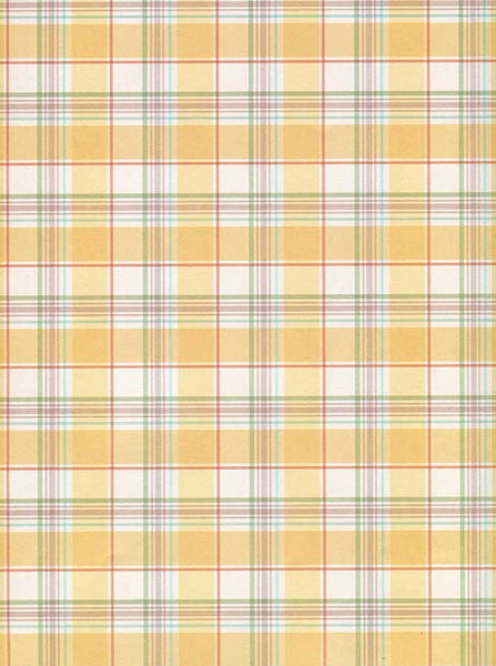 Yellow Plaid Backdrop - 8032 - Backdrop Outlet