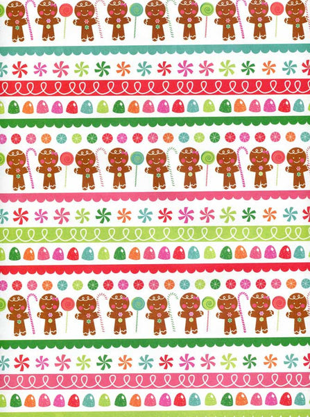Gingerbread Man and Gum Drops Backdrop - 8089 - Backdrop Outlet