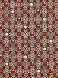 Brown Red Peppermint Patterned Backdrop - 8102 - Backdrop Outlet