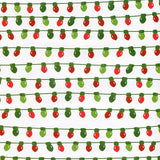 Printed Christmas Lights Photo Backdrop - 8107 - Backdrop Outlet