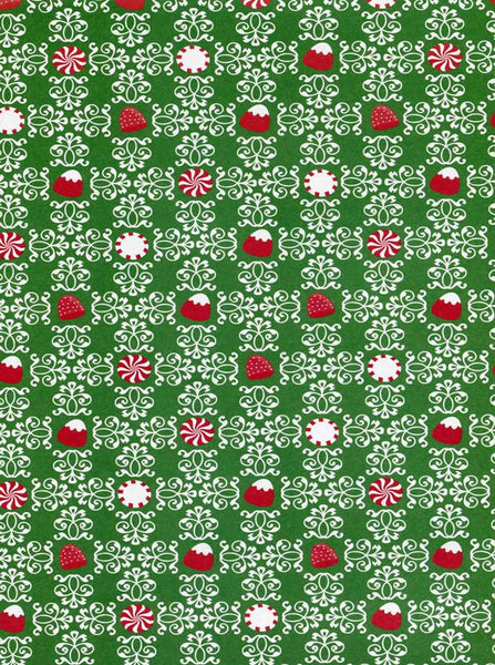 Candy Peppermint Patterned Christmas Backdrop - 8111 - Backdrop Outlet