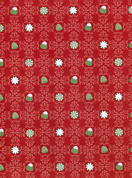 Christmas Red Snowflakes Backdrop - 8117 - Backdrop Outlet