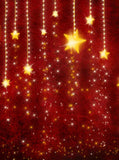 Red Falling Stars Christmas Backdrop - 813 - Backdrop Outlet