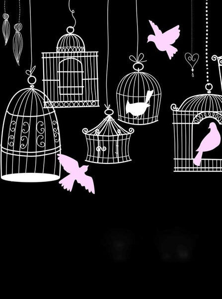 Black Birdcages Backdrop - 8143 - Backdrop Outlet