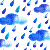 Watercolor Rain Clouds Backdrop - 8146 - Backdrop Outlet