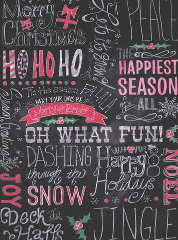 Christmas Chalkboard HoHoHo Happy Holiday Photo Backdrop - 8150 - Backdrop Outlet