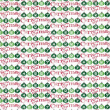 8154 Merry Christmas Red and Green  Printed Backdrop - Backdrop Outlet