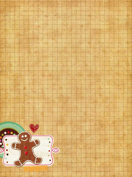 Tan Grid Patterned Gingerbread Christmas Photography Backdrop - 8158 - Backdrop Outlet