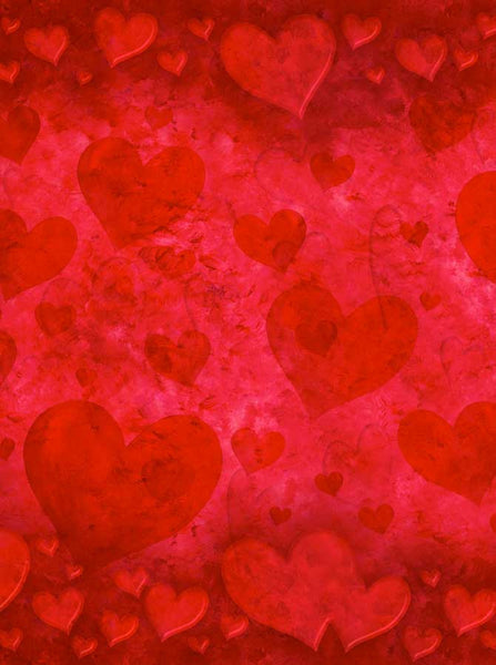 885 Jumping Red Hearts Backdrop - Backdrop Outlet