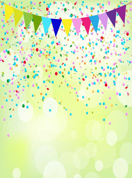 9017 Confetti Banner Flags Bacvkdrop - Backdrop Outlet