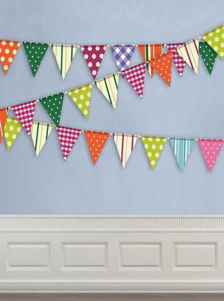 Blue Moulding Wall Flags Backdrop - 9084 - Backdrop Outlet
