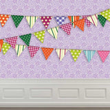 9086 Purple Wallpaper Flags Moulding Backdrop - Backdrop Outlet