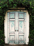 Garden Weather Wood Rustic Doors Photo Backdrop - 9093 - Backdrop Outlet