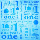 9142 One Year 1st Birthday Blue Photo Backdrop Banner - Backdrop Outlet
