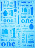 One Year 1st Birthday Blue Photo Backdrop Banner - 9142 - Backdrop Outlet