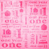 One Year 1st Birthday Pink Photography Backdrop Banner - 9144 - Backdrop Outlet