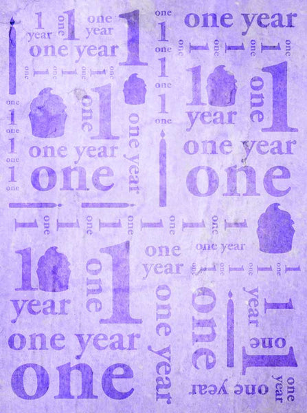 Birthday Purple Backdrop - 9145 - Backdrop Outlet