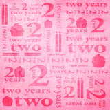 9153 Birthday Pink Two Years backdrop - Backdrop Outlet