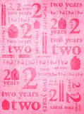 9153 Birthday Pink Two Years backdrop - Backdrop Outlet - 2