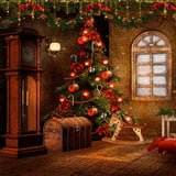 Victorian Christmas Backdrop - 9268 - Backdrop Outlet