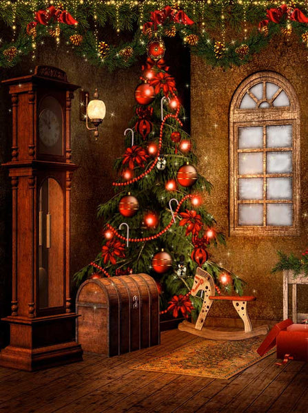 Victorian Christmas Backdrop 9268 Backdrop Outlet