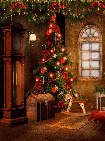 9268 Victorian Christmas Backdrop - Backdrop Outlet - 2
