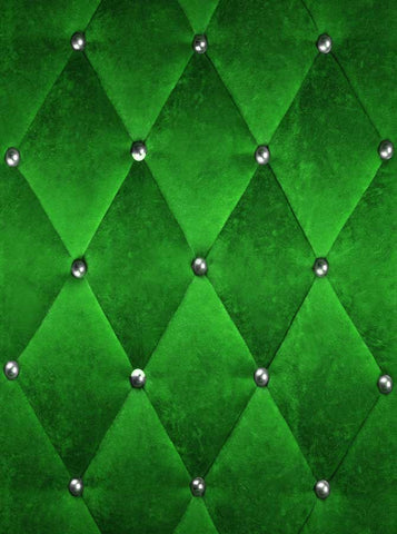 9301 Green Tufted backdrop - Backdrop Outlet