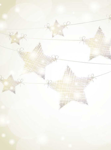9315 String Lights Stars Backdrop - Backdrop Outlet