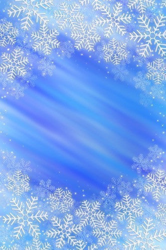 9323 Stormy Blue Snowflake Backdrop - Backdrop Outlet