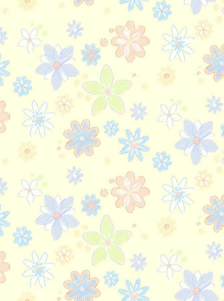 Flower Pastel Backdrop - 9351 - Backdrop Outlet