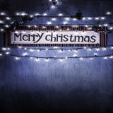 9434 Merry Christmas Sign with Lights Backdrop - Backdrop Outlet