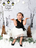 Winter Wonderland Snow Tree Backdrop - 9441 - Backdrop Outlet