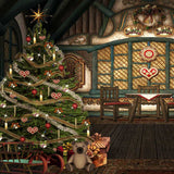 Victorian Christmas Tree Backdrop - 9443 - Backdrop Outlet